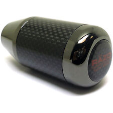 RAZO RA64 Shift Knob Aluminum & Carbon Fiber Black Chrome Type 200g Weighted JDM