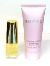2pc Estee Lauder BEAUTIFUL 0.16oz EDP Spray Mini & 1.0oz / 30ml Body Lotion NEW