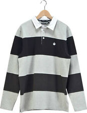 Nomis Spring Cut/Sew Long Sleeve Rugby Shirt Athletic Heather Size LargeTall XL
