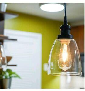Vintage Industrial Pendant Light Fixture,Glass Ceiling Lamp, Sylvania Brookline