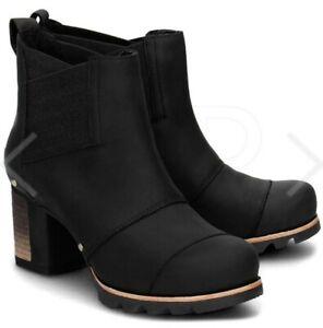 NEW SOREL Addington Waterproof Leather Elastic Gores Chelsea Bootie US 9.5