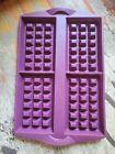 Tupperware Waffle Mold Silicone Purple
