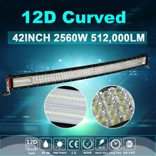 "4 Row 12D 42inch Curved 2560W LED Work Light Bar Combo Flood Spot Driving 44"" 50"