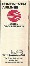 Continental Airlines system timetable 6/1/73 [7082]