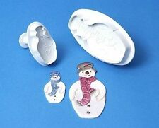 PME Christmas Snowman Plunger Cutter Set x 2 Christmas cake  NEXT DAY DESPATCH