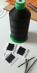 Kit Upholstery Black Thread * Needle -Hand sewing nylon thread Upholstery&Craft