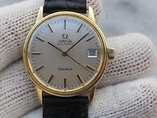 VINTAGE OMEGA GENEVE AUTOMATIC CAL.1012 SOLID GOLD 18K MENS 3mm SWISS MADE