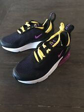 NEW IN A BOX NIKE AIR MAX 270 PS TODDLER SIZE 11C BLACK PURPLE SHOESE SNEAKERS