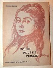 POESÍA Marsico: Poesie Povesie Puiseie 1977 dedicación autor dialecto Roma