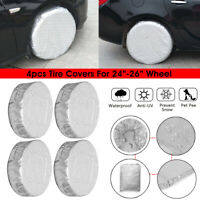 "4pcs Car Truck Wheel Tire Cover Protector For 24"" - 26"" RV Camper Trailer Motor"