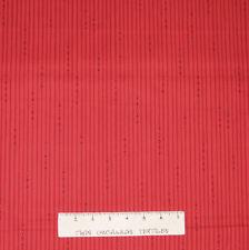 Christmas Fabric - Let It Snow Holiday Red Pin Stripe - Benartex YARD
