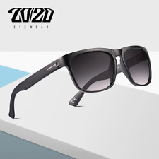Trendy 20/20 Retro Polarized Sunglasses Men Driving Shades Black Square Eyewear