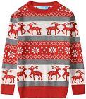SSLR Big Boys' Reindeer Snowflake Pullover Crewneck Ugly Christmas Sweater