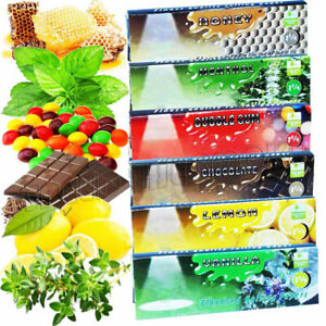 6 Packs Variety Flavored Cigarette Rolling Paper NEW