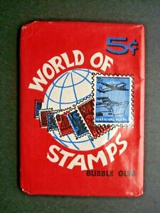 1965 DONRUSS *WORLD OF STAMPS* SEALED WAX PACK