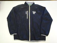 PITTSBURGH PENGUINS Team Issued Windbreaker Jacket Reebok Kinetic Fit L Warm Up
