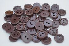 10 x 15 MM DARK BROWN 2 HOLE BUTTONS SHIRTS BLOUSES  KNITWEAR CRAFT (39Z)