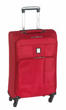 Koffer Trolley Florenz Reisekoffer Stoff Rot LEICHT 2 kg 46 L 66 x 40 x 22 cm