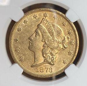 1873 S Closed 3 $20 Liberty NGC AU55
