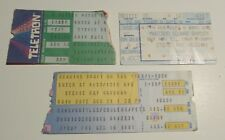 1988/89 STEVIE RAY VAUGHAN Concert Ticket Stub VG 4.0 LOT of 3