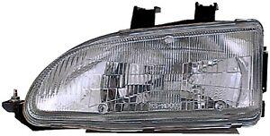 FITS 1992-1995 HONDA CIVIC PASSENGER RIGHT FRONT HEADLIGHT LAMP ASSEMBLY