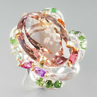 Unique Jewelry Natural Ametrine 925 Sterling Silver Ring Size 8.5/R113950