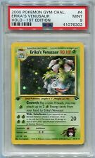 Pokemon Card 1st Edition Erika's Venusaur Gym Challenge Set 4/132, PSA 9 Mint