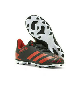 adidas PREDATOR 20.4 S FxG J Boys Black/Red EG1843 Firm Ground Soccer Shoes