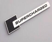2x Supercharged For Audi Badge Emblem Metal Chrome Car Sticker A3 Black CP80