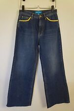 MIH Denim Crop Wide Leg CARON Mirry Patch High Waisted Jeans Size 26