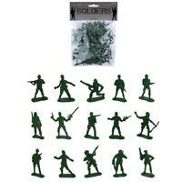 50 x Plastic Combat Soldiers Platoon Army Pack Boys Kids Fun Toy