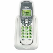 Cs6114 Dect 6.0 Cordless Phone With Caller Id/Call Waiting, White/Grey With 1