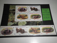 "FRANCOBOLLI STAMPS GEORGIA 1999 ""WWF-WILDLIFE"" MNH** SET + BLOCK (CAT.5)"