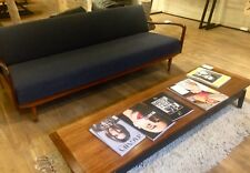 1970's Style Mahogany Effect Coffee Table, Mid Century Modern Scandinavian Retro