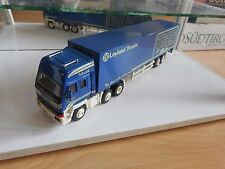 """Smith Models Leyland 320 Chargecooled + Trailer """"T45 Team"""" in Blue on 1:50"""