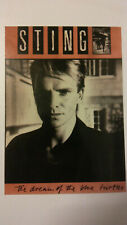Sting The dream of the blue turtles pop vintage music postcard POST CARD