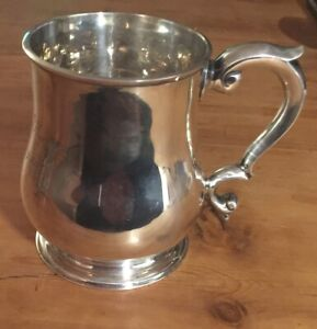 SUPERIOR SILVER BALUSTER MUG BY GOLDSMITHS & SILVERSMITHS LONDON 1914.. A868.