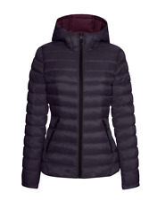 HFX Women's Lightweight Packable Puffer Winter Jacket Eggplant/Bordeaux XL