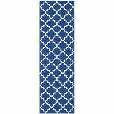 Safavieh Flat weave Wool Dark Blue 2' 6 x 14' Runner