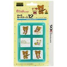 F/S NINTENDO 3DS Rilakkuma Card Case 12 Aloha Rilakkuma Blue Made in JAPAN