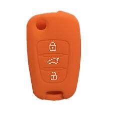 Orange Silicone Remote Flip Key Cover Holder Cover fit for KIA Sportage Optima