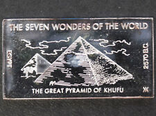 1971 Kennedy Mint The Great Pyramid of Khufu Silver Art Bar KEN-15 P1677