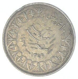 1937 Egypt 10 Qirsh - TC *839