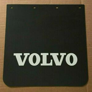 "Volvo Trucks 24"" x 25"" Mud Flaps Pair Black & White Poly"