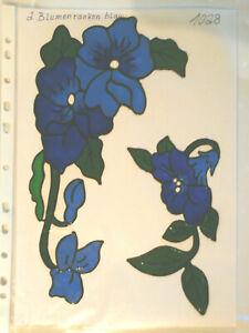 Window Color Fensterbilder Deko 2 Blumenranken blau
