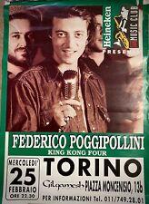 FEDERICO POGGIPOLLINI- Poster Pubblicitario Originale- Torino - ' 80 -
