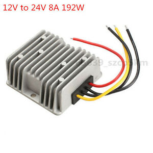 NEW Voltage Booster Power DC Converter Step Up Regulator 12V to 24V 8A 192W
