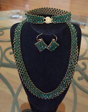 Handmade with Swarovski Crystals, Jewelry Set, Wedding or Gift