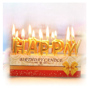 Happy Birthday Candles Cake Topper Letters Party Celebration Decoration Sign