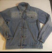 vintage ralph lauren polo jean company womens denim jacket xl size 20 distressed